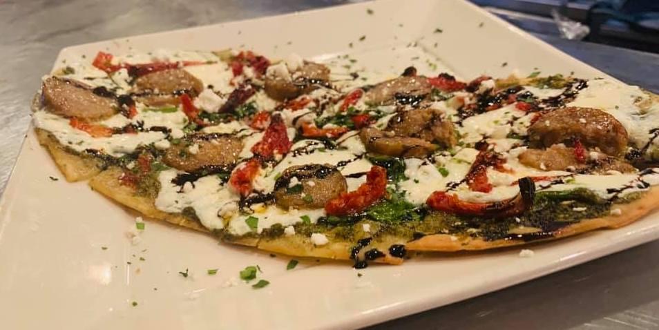 Italian Flat Bread Pizza at Nonna Rosas Italian Restaurant