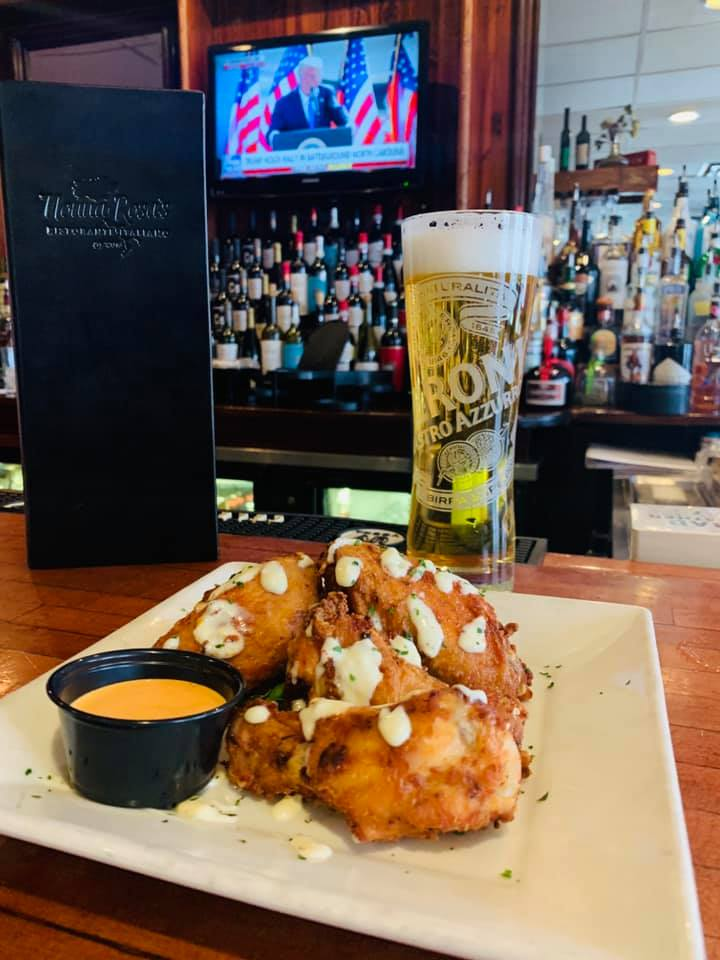Wings and Beer at Happy Hour at Nonna Rosas Italian Restaurant
