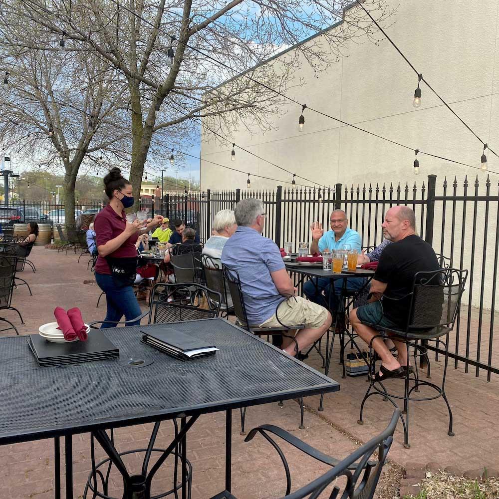 Nonna Rossa's European-style patio